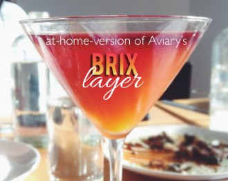 at-home-version of the Brix Layer Cocktail