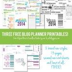 Free Printable Blog Planners 2014 Edition