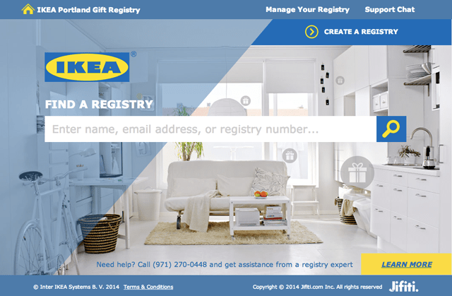 Ikea Portland has a registry! // More info on A Well Crafted Party