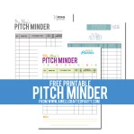 Free Printable Pitch Minder – For Bloggers!