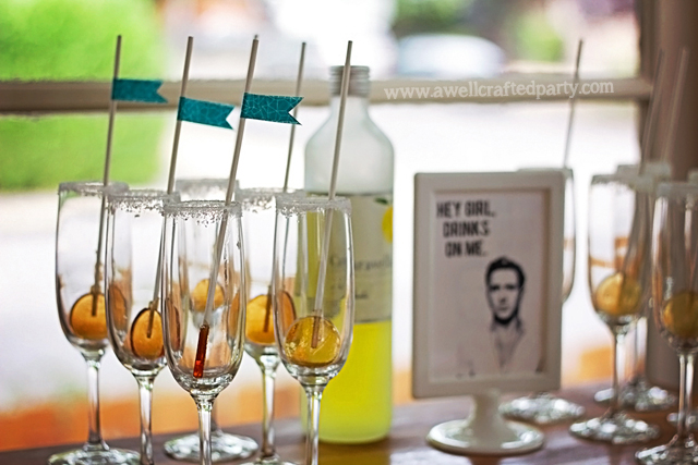 Sparkling Lollipop Cocktails // A Well Crafted Party