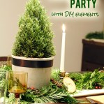 Natural Green and White Holiday Party + Free Printables