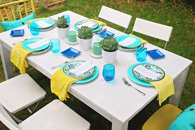 DIY Outdoor Table - A Well Crafted Party
