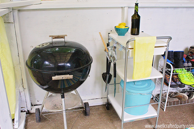 Our grill area is much more functional now that we added a little grill cart!