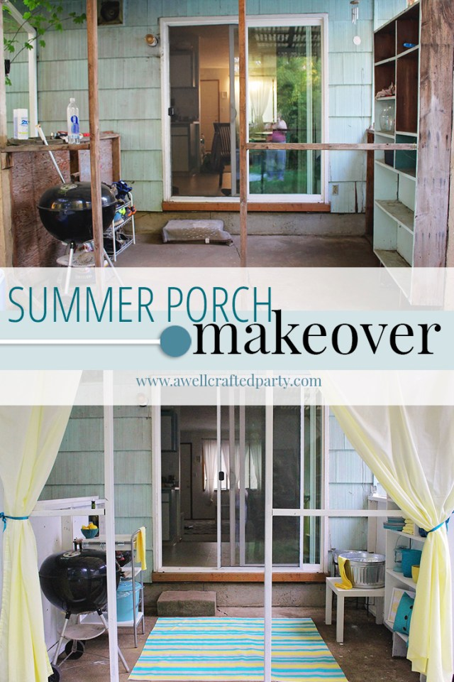 Summer Porch Makeover for a Rental - A Well Crafted Party