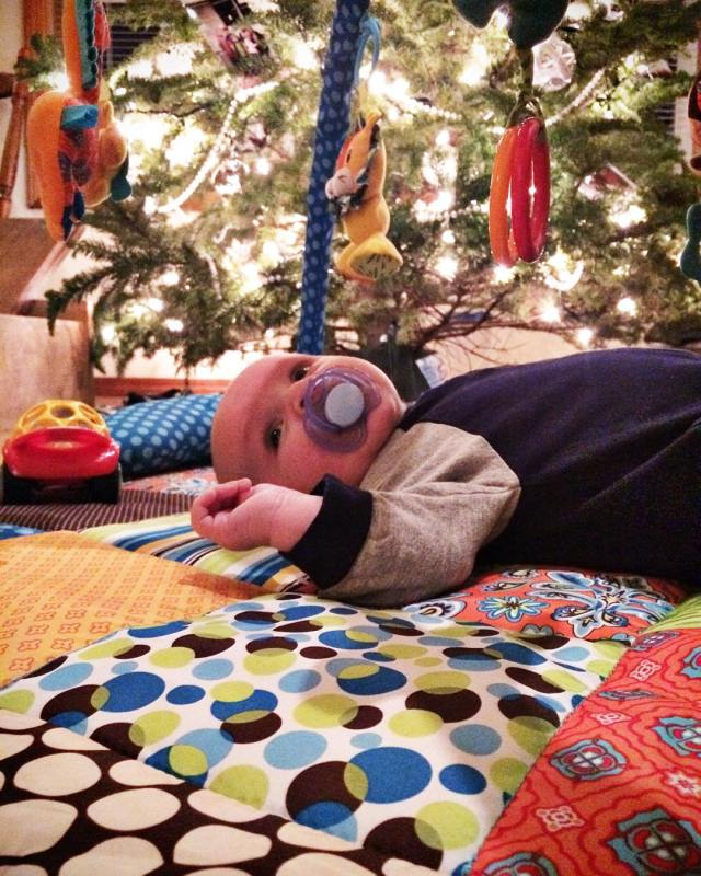 A Well Crafted Baby Under the Christmas Tree