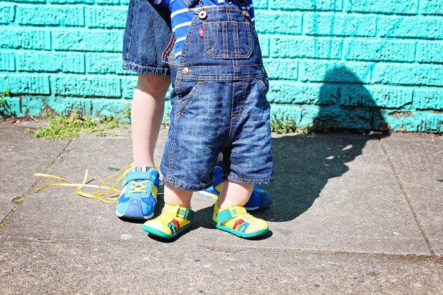 Bright Colored Kid Casual Wear outfits featuring IFME shoewear for kids sponsored post featured on A Well Crafted Party