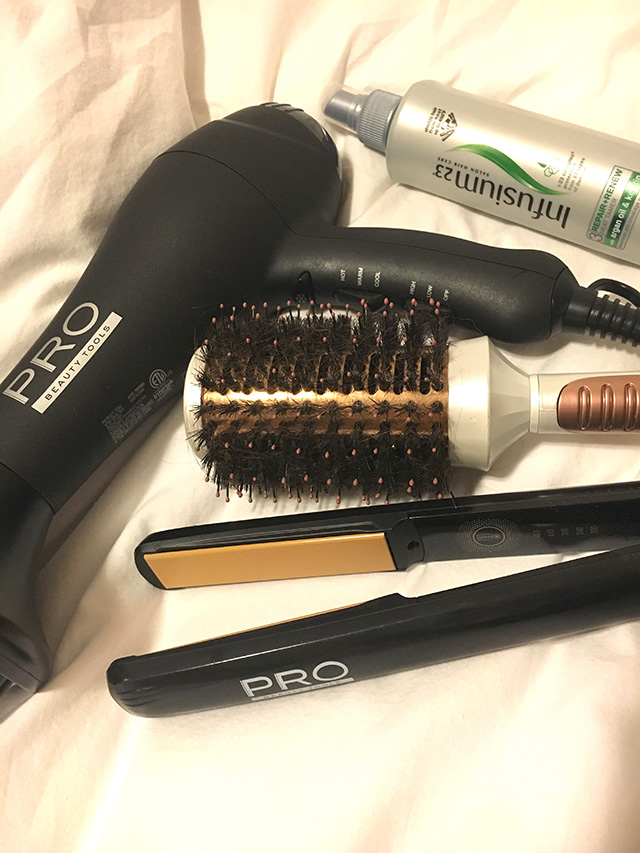 The tools of the trade for days I have a little bit more time to spend on my hair! A Well Crafted Party