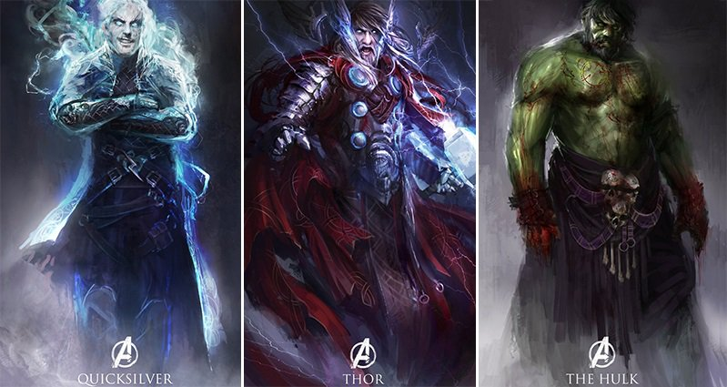 Anime Witch Girl Wallpaper Artist Daniel Kamarudin Reimagines The Avengers Heroes And