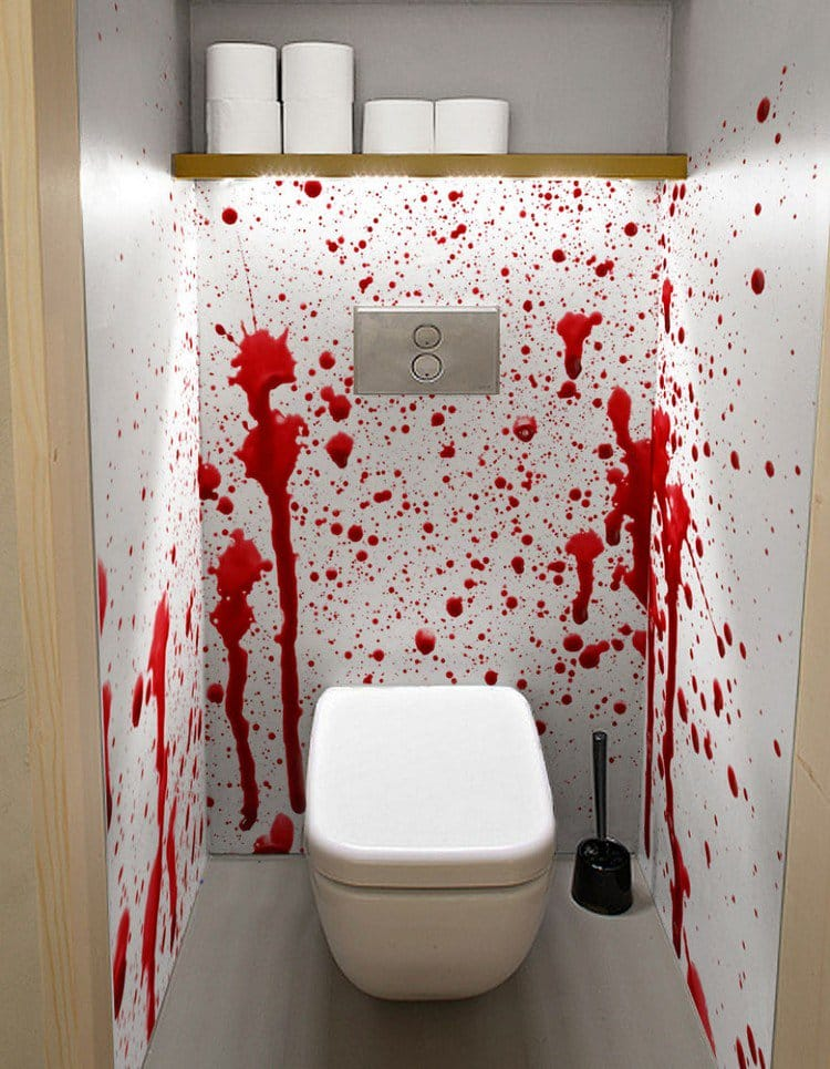 3d Wallpaper For House Walls These Scary Bathroom Murals Are The Stuff Of Nighmares