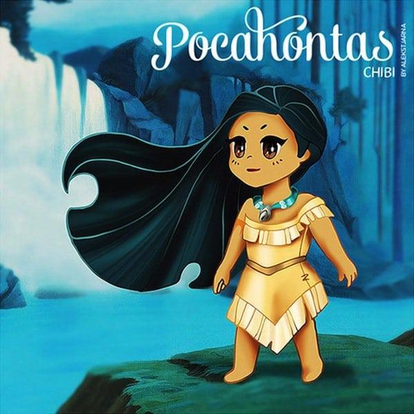 Pretty Little Girl Wallpaper Your Favorite Disney Princesses Drawn In Super Cute Chibi