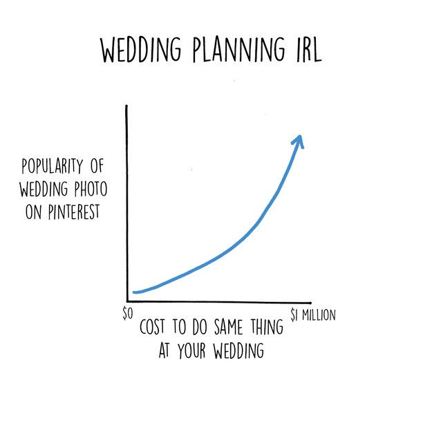 13 Funny Charts That Highlight The Expectation Vs Reality Of Wedding