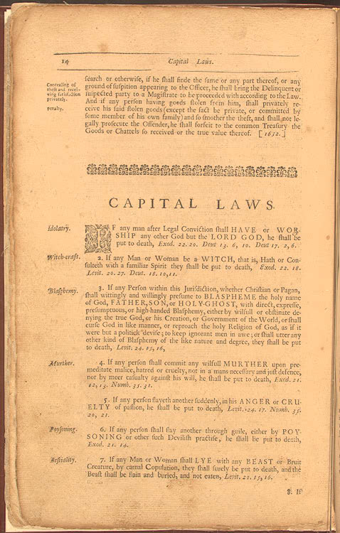 This is some of the Puritanu0027s laws, it is a primary source - george washington resume