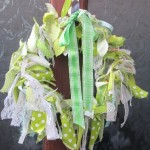 spring rag wreath