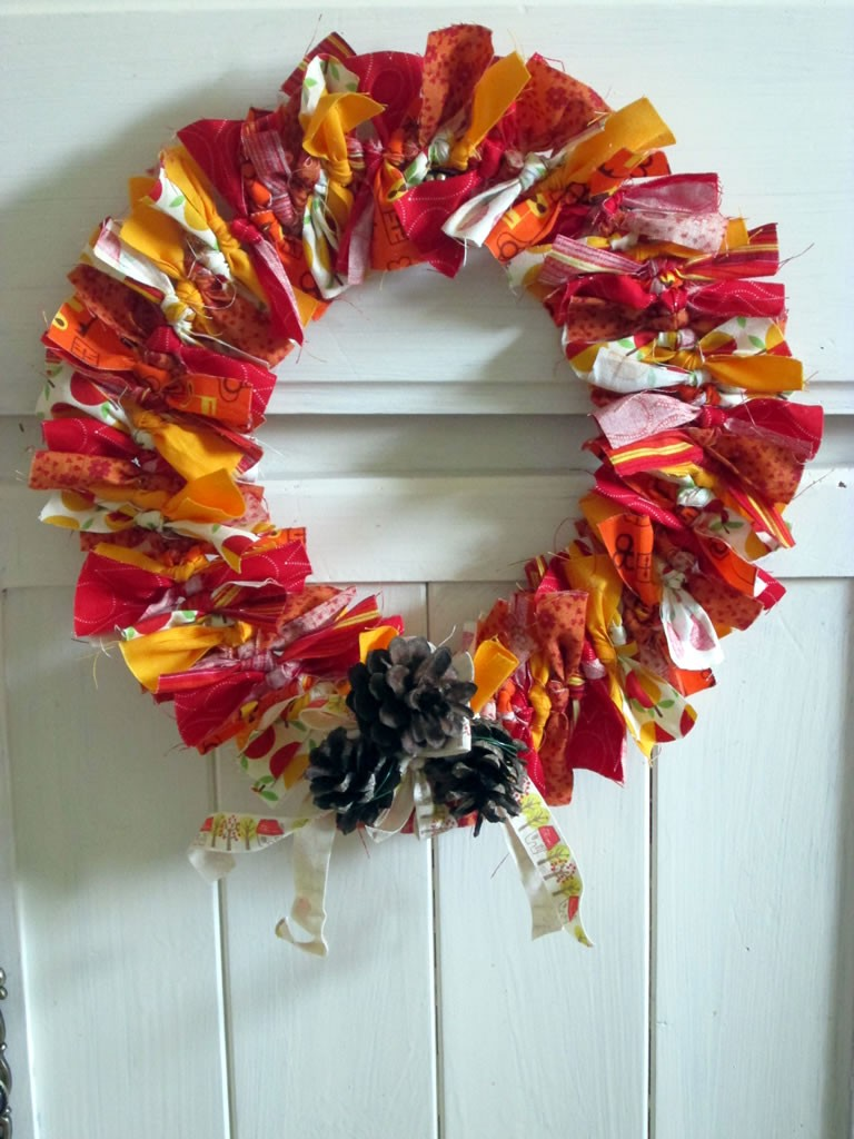 How to make an autumn wreath tea and a sewing machine for How to make a spring wreath from scratch