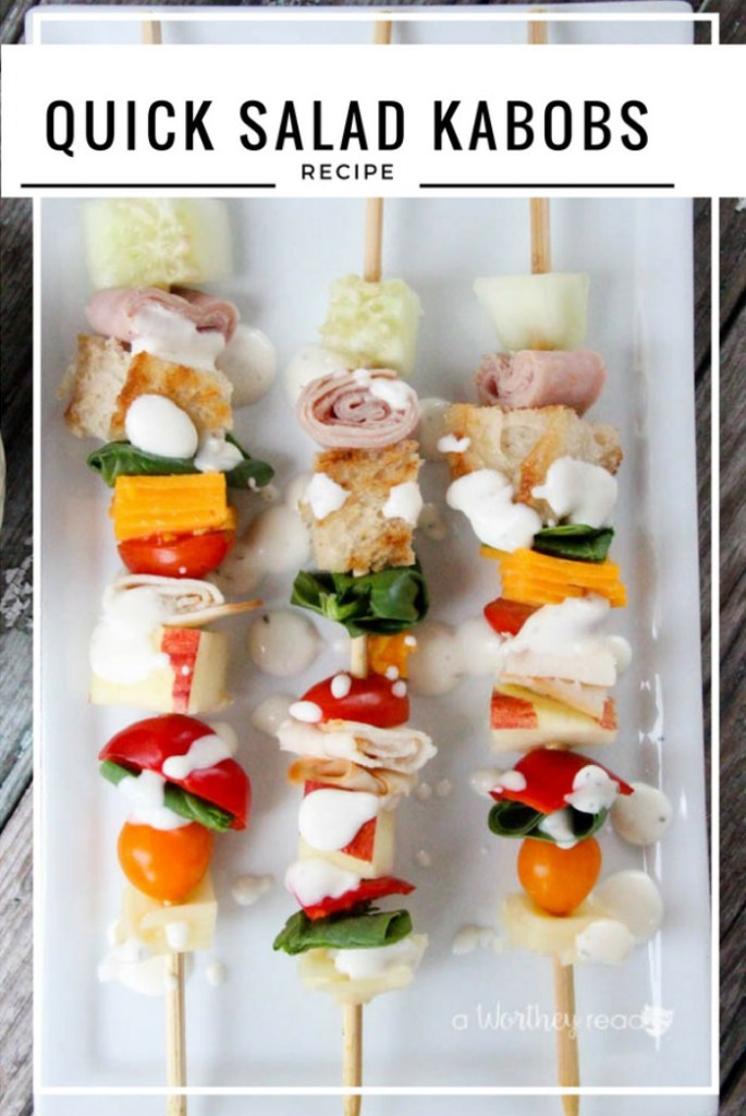 ... easy kabobs in as little as five minutes start to finish that easy