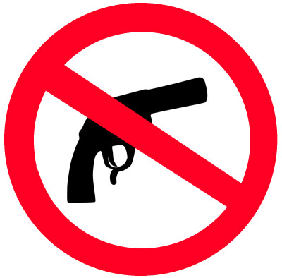 """No guns"" sign"