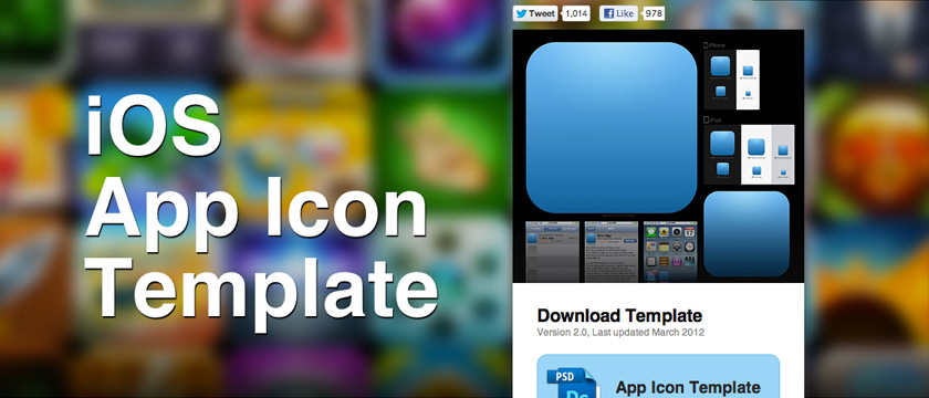 Inspirational and Useful Resources for App Designers - iphone app icon template
