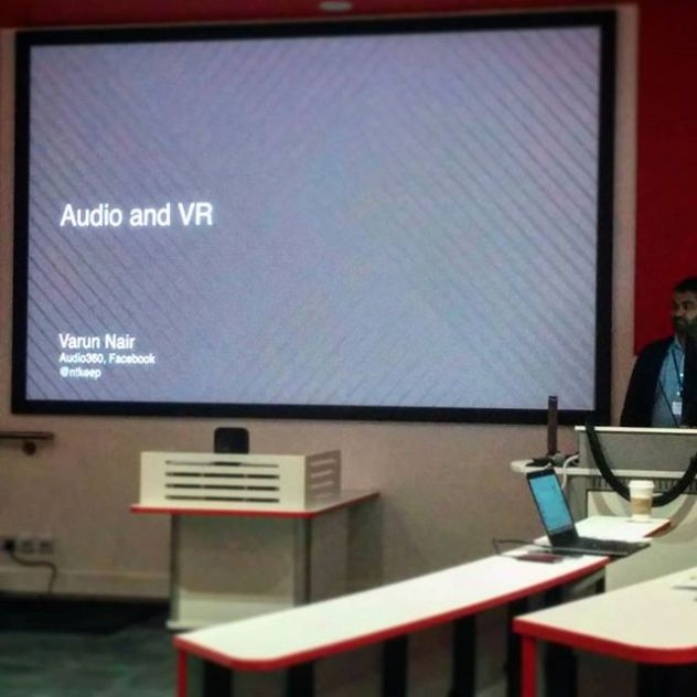 Vanur Nair's opening keynote yesterday morning, it would be great showing this to people that want to get into #AudioforVR, clear and concise #UpYourOutput #AudioEngineering #SpatialAudio @aesorg @AudEngSocUK