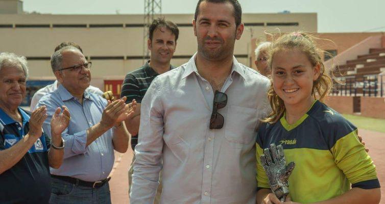 La joven portera del municipio Sara Niz