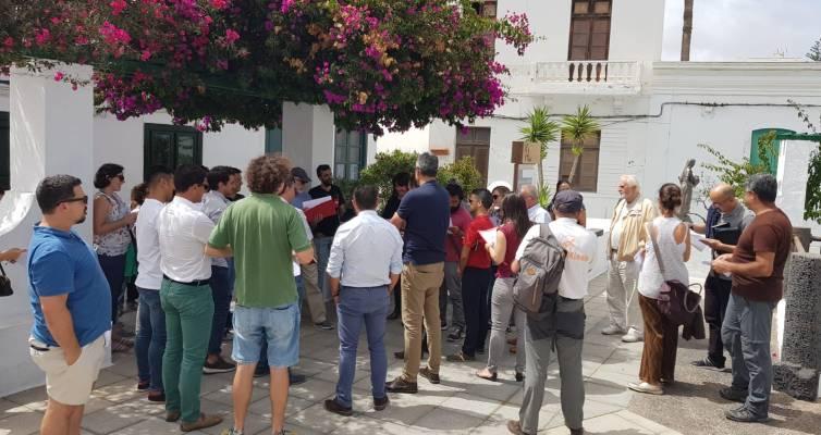 Participantes del curso de rehabilitación de la arquitectura popular de Lanzarote
