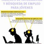 Cartel talleres de informática para jóvenes