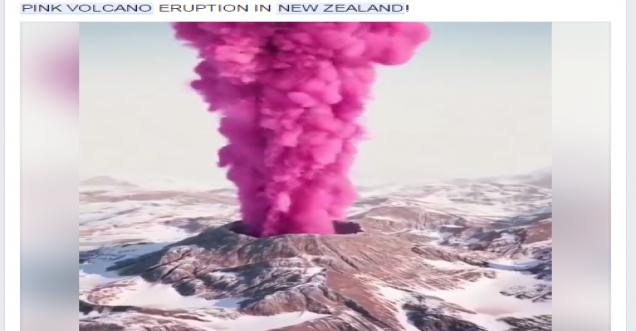 3d Smoke Wallpaper Pink Volcano Eruption In New Zealand 3d Rendering At Its