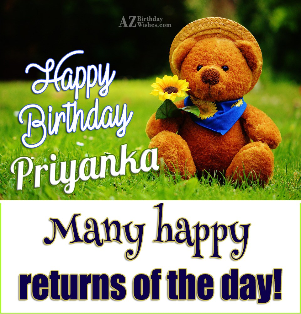 Happy Birthday Priyanka Auto Electrical Wiring Diagram Ouku Th8829ga Wire Harness