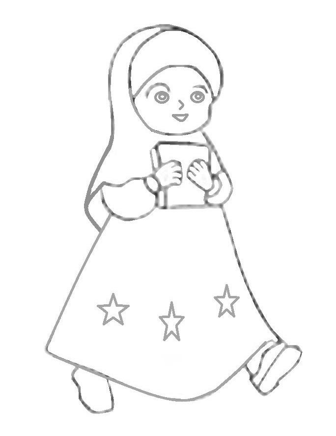 Gambar Seri Anak Gambar Anak Kembar Ziana Zain Sensasi Selebriti Mewarnai Gambar Kartun Anak Perempuan Muslimah 5 5 1 Votes