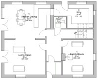 Elegant Ground Floor Plan for Home - New Home Plans Design