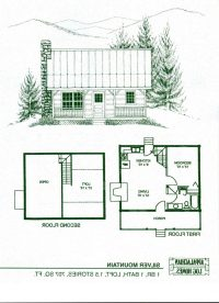 Small Vacation Home Floor Plans New Cabin House Plans