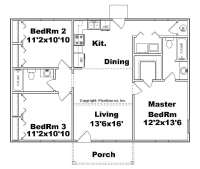 Awesome 3 Bedroom House Plans No Garage - New Home Plans ...