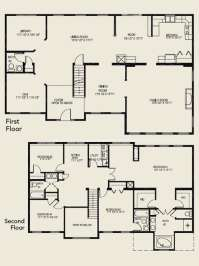 Luxury 4 Bedroom 2 Story House Floor Plans