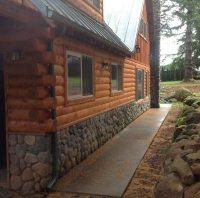 Elegant Faux Log Cabin Walls - New Home Plans Design