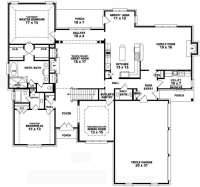 Floor Plans for A 4 Bedroom 2 Bath House Unique 4 Bedroom ...