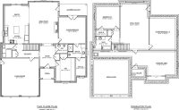 One Level House Plans with Basement New Single Story with ...