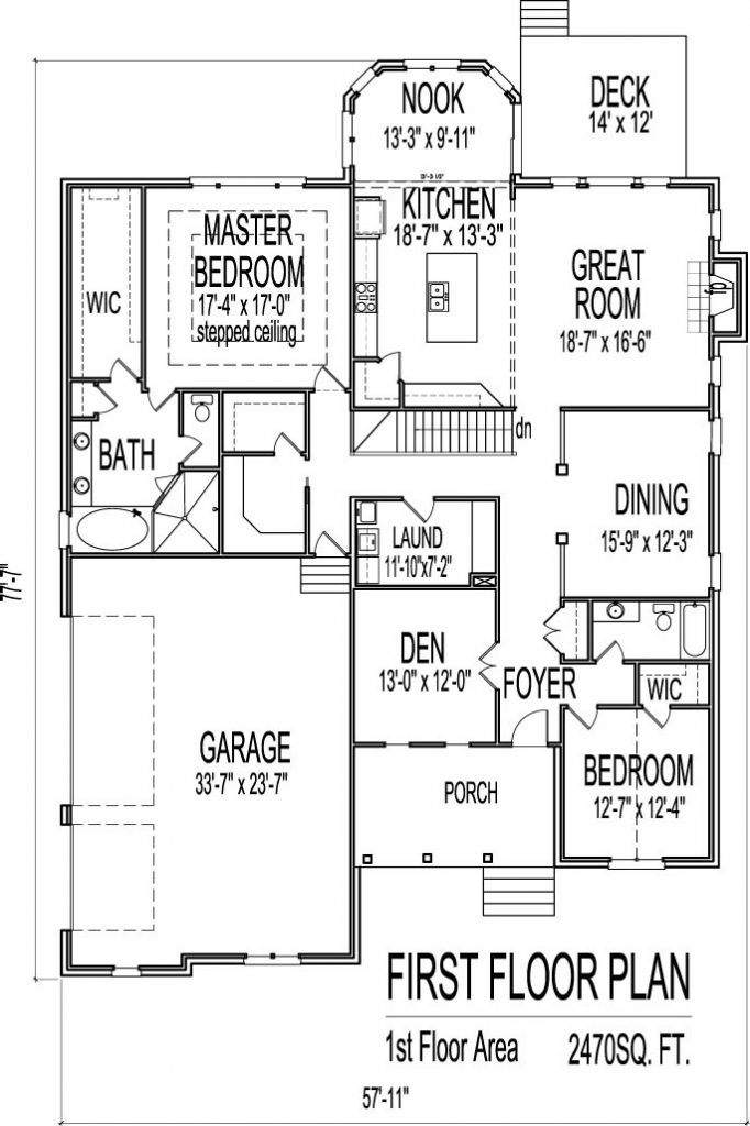 New One Story Ranch House Plans with Basement