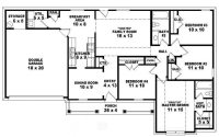 Single Story Ranch House Plans Beautiful E Story 4 Bedroom ...