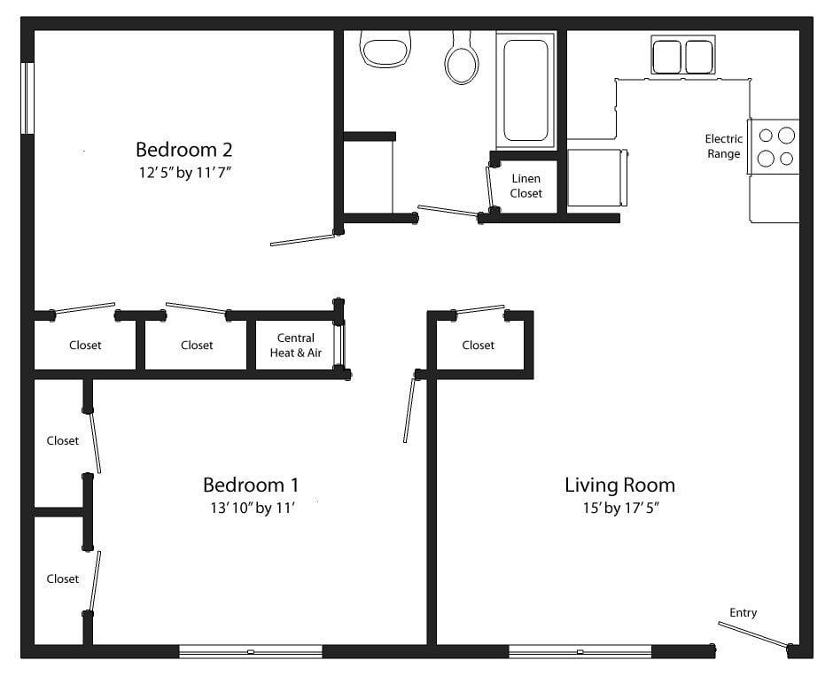 Unique Two Bedroom One Bath House Plans
