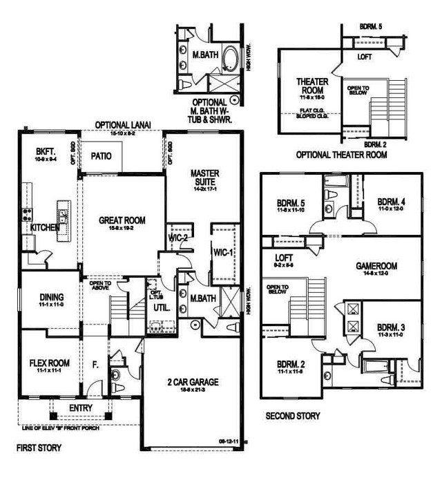 6 Bedroom Floor Plans With Basement