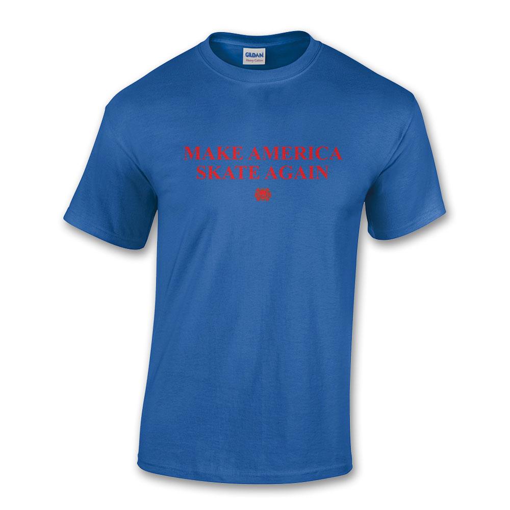 Make America Skate Again T-shirt Royal Blue
