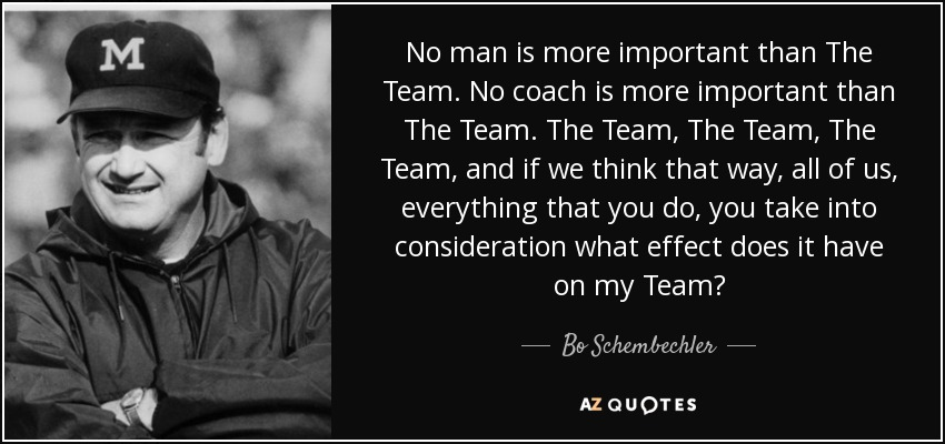 Facebook Wallpaper Quotes From Soccer Players Top 14 Quotes By Bo Schembechler A Z Quotes