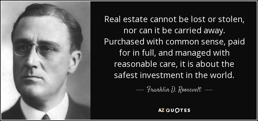 TOP 25 REAL ESTATE MOTIVATIONAL QUOTES A-Z Quotes - real estate quotation
