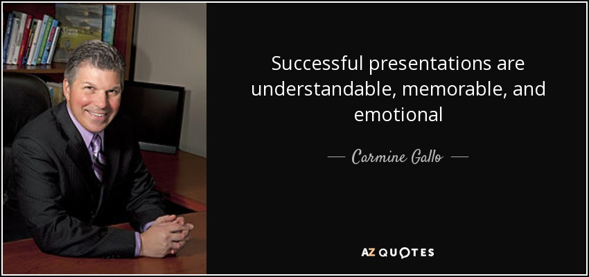 TOP 10 QUOTES BY CARMINE GALLO A-Z Quotes - quote on presentation