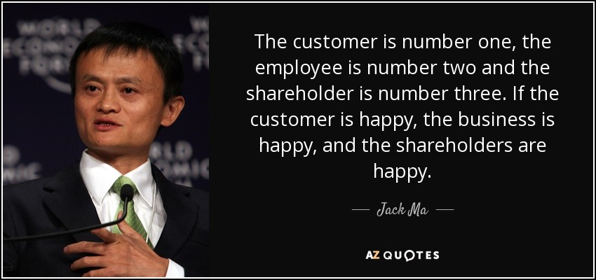 Expectations Quote Wallpapers Jack Ma Quote The Customer Is Number One The Employee Is