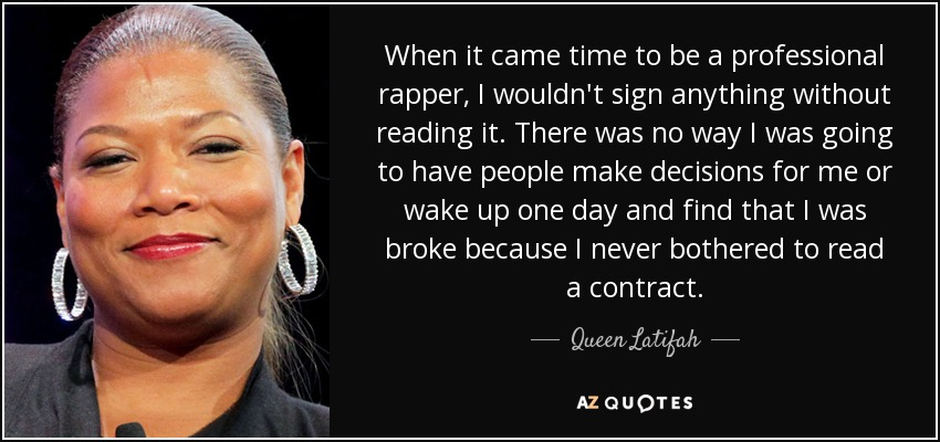 Queen Latifah quote When it came time to be a professional rapper, I - how to be a professional