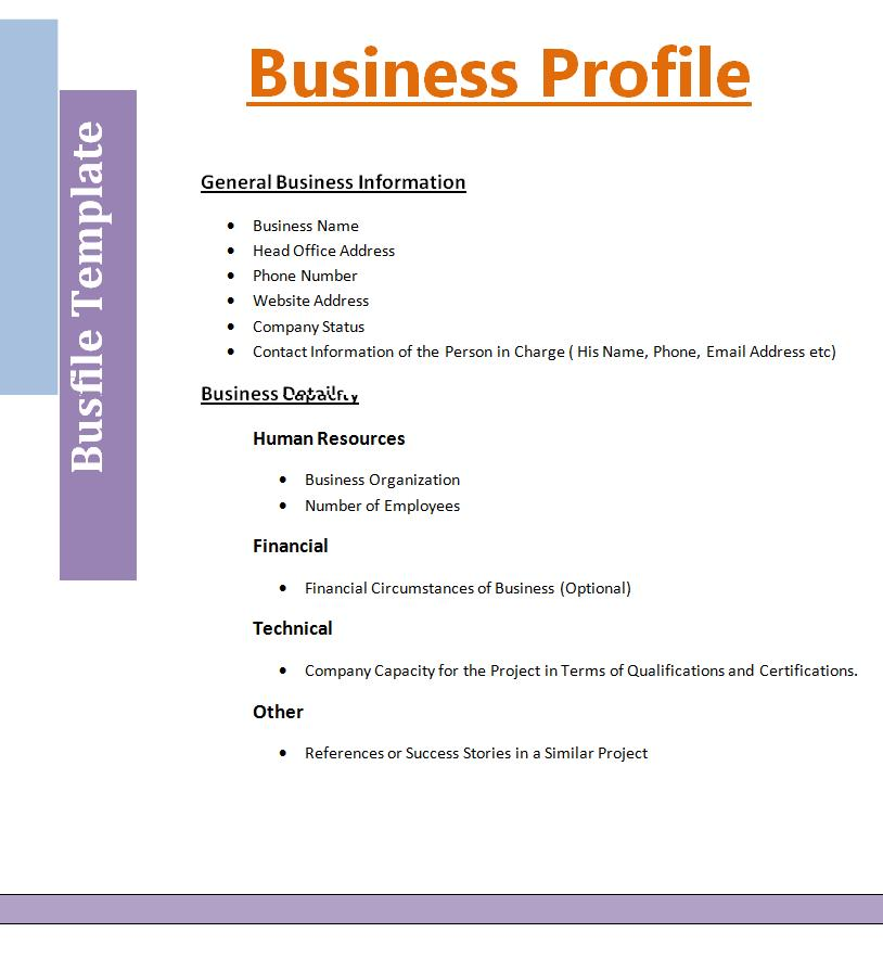 free sample company profile template