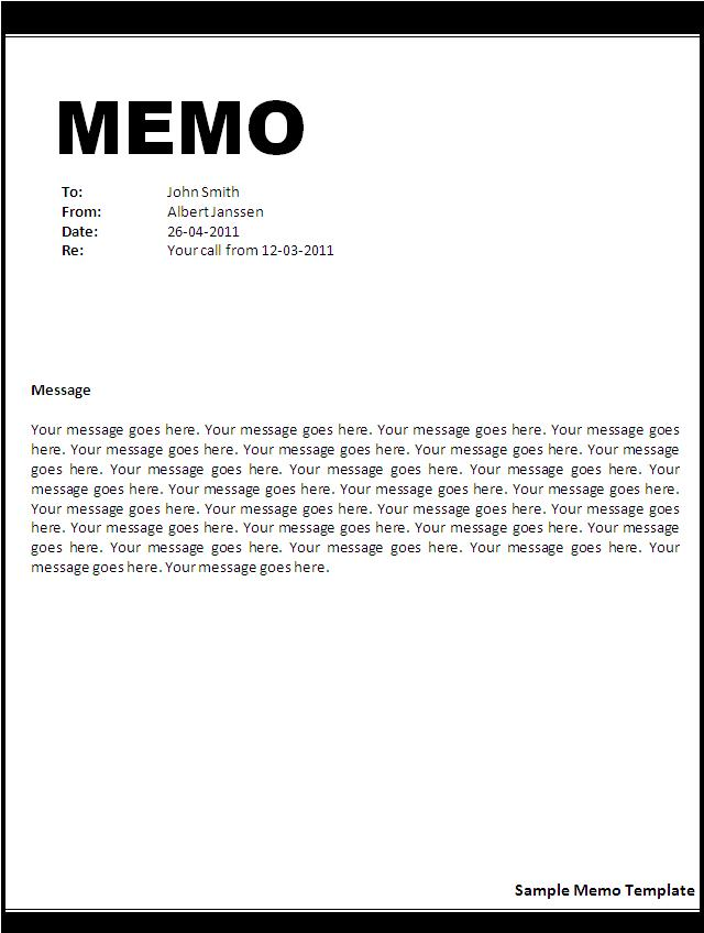 memorandum template for word - Funfpandroid - memo templates