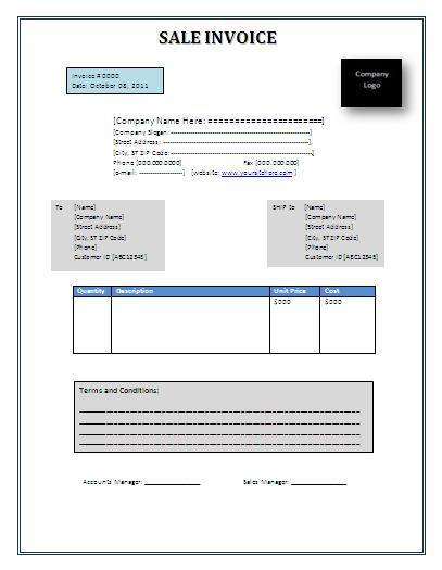 Service Invoice Template Free Printable Word Templates, - sample service invoice