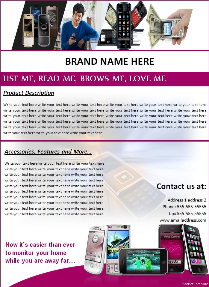 Free Booklet Template Free Printable Word Templates,